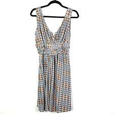 Sundance Womens Dress Size Large V Neck Sleeveless Stretch Knit Geometric Print