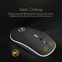 iMice Wireless Mouse Silent Computer Mouse 2.4Ghz 1600 DPI Ergonomic Mause Noise