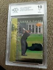 "TIGER WOODS~2001 UPPER DECK GOLF BCCG 10 GEM-MT ""TIGER TALES"" ROOKIE RC CARD#TT2"