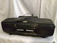 JVC RC-X610 Cassette CD Radio Portable System/BoomBox FOR PARTS OR REPAIR ONLY