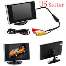 "3.5"" TFT HD LCD Color Screen Car Rearview Monitor Backup Reverse Camera DVD VCR"