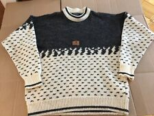 JANUS MENS 70%  WOOL 30% VISCOSE  SWEATER PULLOVER SIZE L-52 MADE IN NORWAY