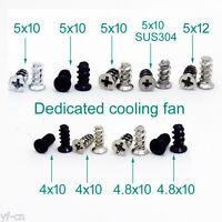 100pcs Durable Screws Computer PC Case Cooling Fan Mount Screws For Fans