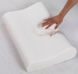ORTHOPEDIC MEMORY FOAM PILLOW WITH ZIPPED WASHABLE COVER  BACK & NECK SUPPORT