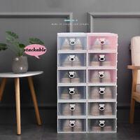 Shoe Rack Box Cabinet Shelf Drawer Storage Stackable Organiser Plastic Case