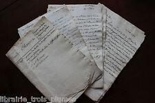 ✒ Manuscrits ORDRE de MALTE dossier généalogique NORMANDIE famille des CHAMPS
