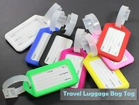 UK Luggage Suitcase Baggage Bag Tags Address Name ID Labels For Travel New LugTg