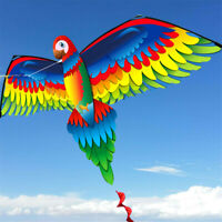 3D Parrot Kite Outdoor Fun Sports Beach Single Line Kites Children Kids Toy Gift