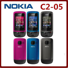 Original NOKIA C2-05 (Unlocked) GSM Cheap Mobile Phone Slide Touch &Type Phone