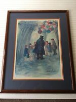 """Barbara A. Wood """"Balloon Man"""" Limited Edition Print Signed & Numbered, 181/975"""