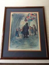 "Barbara A. Wood ""Balloon Man"" Limited Edition Print Signed & Numbered, 181/975"