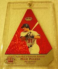 MIKE PIAZZA 1998 PACIFIC INVINCIBLE CRAMER'S CHOICE #6 RED FOIL SERIAL #11/25