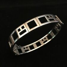 Sterling Silver Bracelet (Macintosh Style) (w/ Pin Slide Closure & Safety Chain)