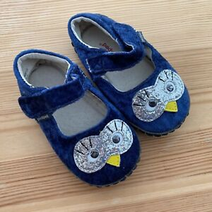 PEDIPED Originals Blue Owl Flats Crib Shoes Size 18-24 Months