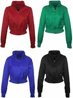 New Womens Zip Front Biker Moto Style Color Jacket 65% Cotton, 35% Nylon