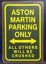 Aston Martin Parking Metal Sign /  Vintage Garage Wall Decor (30 x 20cm)