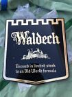 Waldech Beer Brewed By Hamm's Reverse On Glass Bar Sign NOS With Gold Leafing