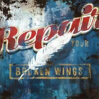 "36W""x36H"" REPAIR YOUR BROKEN WINGS by RODNEY WHITE - RED LIGHT FEATHERS CANVAS"