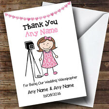 Thank You For Being Our Wedding Photographer Female Personalised Thank You Card