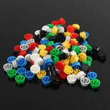 140pcs Round Mixed Color Tactile Button Caps Kit For 12x12x7.3MM Tact Switches