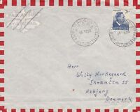 APH468) AAT 1954 Commercial Surface Mail cover to Denmark