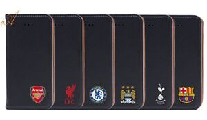 OFFICIAL FOOTBALL CLUB NEW WALLET FLIP FOLIO CASE COVER FOR IPHONE 5 5S SE 6 6S