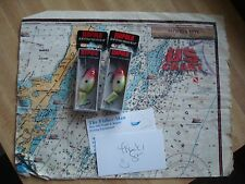 2 RAPALA JSR-4 CLOWN JOINTED SHAD RAP FISHING LURES NEW IN PACKAGES