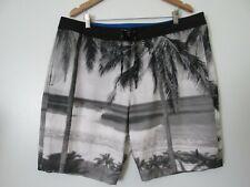 8d5762c9f6 Gap Brian Bielmann Gray Print Zip Front, Pockets, Board Shorts NWOT SZ: XL
