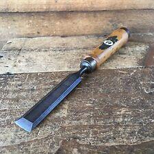 Vintage HIRSCH 20mm Bevelled Mortise CHISEL Old Antique Hand Tool #538