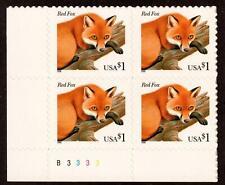 Scott 3036 $1 Red Fox Plate block of 4 MNH Free Shipping!!!
