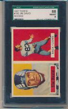 1957 Topps Football Jim David (Rookie Card) (#150) SGC88 (8) SGC