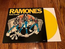 RAMONES ROAD TO RUIN YELLOW COLORED VINYL LP LIMITED EDITION IMPORT ~ENGLAND