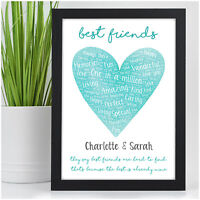 PERSONALISED Best Friend Christmas Birthday Gifts for Her Female Friendship Xmas