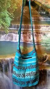 ZIP UP HIPPY HAPPY SHOULDER BAG FESTIVAL COLOURFUL BOHO ETHNIC  KB23