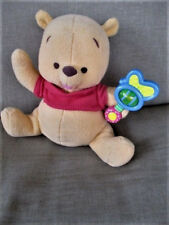 "Disney Magic Rattle Baby Winnie Pooh Bear Interactive 9"" Tall Sitting Plush Toy"