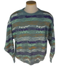 Vtg 90s Mens Pronto-Uomo Multi Color Made in Italy Sweater Sz Large