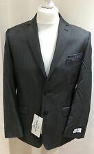 Daniel HECHTER Mens Grey Contrast Twill Blazer Size 44 Short