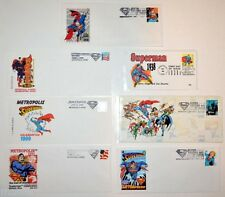 Metropolis IL HOME Of SUPERMAN CELEBRATION 1st & 2nd DAY ISSUE ENVELOPES 7 pc
