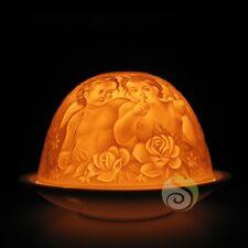 cadeau noël photophore lithophanie Dôme anges méditation bougie lumière