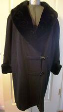 """Woman Wool Black Warm Winter Coat """"WINLIT"""" Large"""