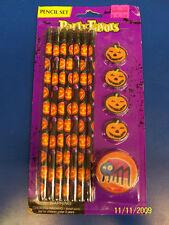 Halloween Pencil Set Eraser Sharpener Carnival Kids Theme Party Gift Favors
