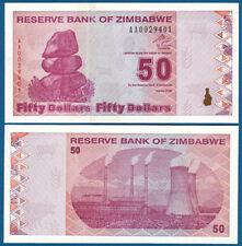 SIMBABWE / ZIMBABWE 50 Dollars  2009  UNC  P. 96