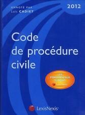code de procédure civile 2012   les fondamentaux du droit   édition 2012