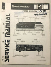 KENWOOD KR-1000  A V SURROUND RECEIVER SERVICE REPAIR MANUAL