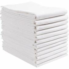 """6 x White Cotton Flour Sack Kitchen Dish Cloth All Purpose Tea Towel 28""""x28"""""""