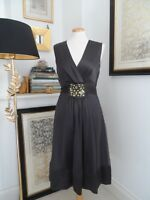Gorgeous PHASE EIGHT Grey Silk Occasion Dress size 12. Fabulous Condition