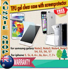 TPU Gel Clear case + Screen Protector for Samsung Galaxy & Apple iPhone 5,6,7...