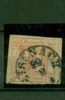 Thurn und Taxis. Wertziffern im Quadrat Nr. 13 Briefstück