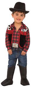 Cowboy Red Black CHILD Boys Costume NEW Western