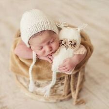 Newborn Baby Girls Boys Crochet Knit Hat+OwlToys Photo Photography Prop Outfits